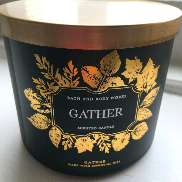 """Bath and Body Works """"Gather"""" Scented 3-Wick Candle"""